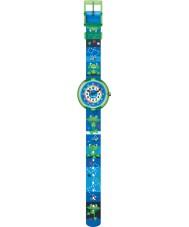 Flik Flak FBNP058 Boys Quak Time Multicoloured Textile Strap Watch
