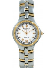 Krug Baümen 2614DM Regatta 4 Diamond White Dial Two Tone Strap