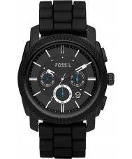 Fossil FS4487 Mens Machine Black Rubber Strap Chronograph Watch
