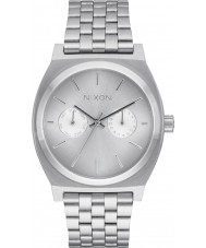 Nixon A922-1920 Mens Time Teller Deluxe Silver Steel Bracelet Watch