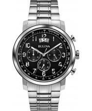 Bulova 96B202 Mens Dress Silver Chronograph Watch