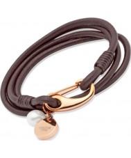 Unique Ladies Dark Brown Leather Bracelet