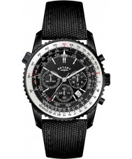 Rotary GS00212-04 Mens Black IP Chronograph Fabric Strap Watch