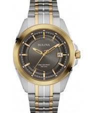 Bulova 98B273 Mens Precisionist Two Tone Steel Bracelet Watch