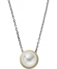Skagen SKJ0880998 Ladies Agnethe Silver Steel Necklace with Pearl Gem