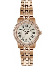 Rotary LB02597-41 Ladies Timepieces Crystal Bezel Rose Gold Plated Watch