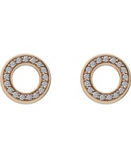 Emozioni DE409 Ladies Rose Gold Plated Saturno Earrings