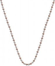 """Emozioni CH056 24"""" Sterling Silver and Rose Gold Plated Accent Bead Chain"""