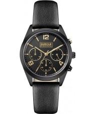 Barbour BB012BKBK Ladies Cleadon Black Leather Strap Watch