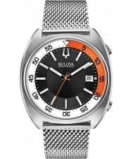 Bulova 96B208 Mens BA II Silver Mesh Bracelet Watch