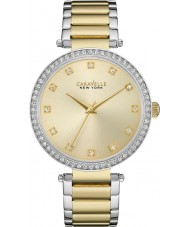 Caravelle New York 45L154 Ladies T-Bar Two Tone Steel Bracelet Watch