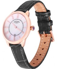 Rotary LS02919-41 Ladies Timepieces Elise Black Leather Strap Watch