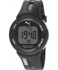 Puma PU911101001 Pulse Plus Black Silicone Strap Chronograph Watch