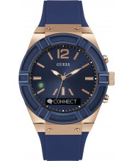 Guess Connect C0001G1 Mens Blue Silicone Strap Smart Watch
