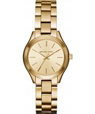 Michael Kors MK3512 Ladies Slim Runway Gold Plated Bracelet Watch