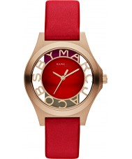 Marc by Marc Jacobs Ladies Henry Skeleton Bright Red Watch