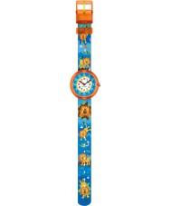 Flik Flak FBNP060 Boys Rawwwwr Multicoloured Textile Strap Watch
