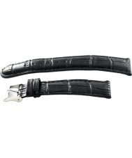 Krug Baümen 15058BLCKG Mens Enterprise Black Leather Replacement Strap