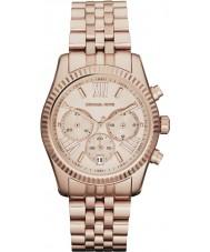 Michael Kors MK5569 Ladies Lexington Rose Gold Plated Chronograph Watch