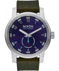 Nixon A938-2302 Mens Patriot Olive Leather Strap Watch