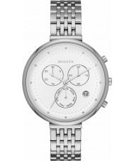 Skagen SKW2419 Ladies Gitte Silver Steel Chronograph Watch