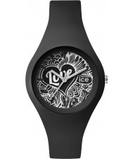 Ice-Watch LO.BK.DO.S.S.16 Ladies Ice-Love Small Black Silicone Strap Watch
