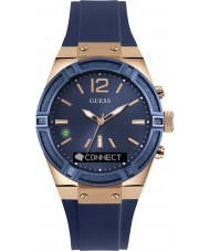Guess Connect C0002M1 Blue Silicone Strap Smart Watch