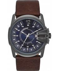 Diesel DZ1618 Mens Master Chief Dark Brown Leather Strap Watch