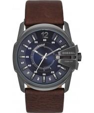 Diesel DZ1618 Mens Master Chief Dark Brown Leather Strap Watch