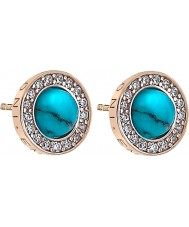 Emozioni DE463 Ladies Giove Turquoise Rose Gold Plated Earrings