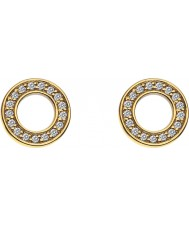 Emozioni DE410 Ladies Yellow Gold Plated Saturno Earrings