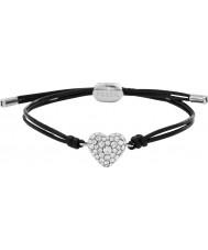Fossil JF01206040 Ladies Vintage Motif Black Leather Bracelet