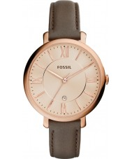 Fossil ES3707 Ladies Jacqueline Grey Leather Strap Watch