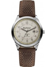 Barbour BB017CPBR Mens Walker Cream Brown Leather Strap Watch