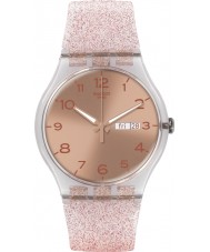 Swatch SUOK703 New Gent - Pink Glistar Watch
