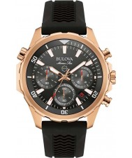 Bulova 97B153 Mens Marine Star Black Rubber Strap Chronograph Watch