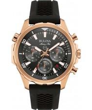 Bulova 97B153 Mens Marine Star Black Rubber Strap Chronograph Watch
