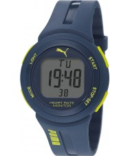 Puma PU911101003 Pulse Plus Blue Silicone Strap Chronograph Watch