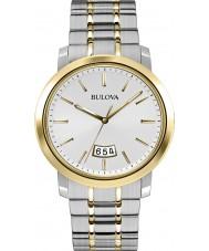 Bulova 98B214 Mens Dress Silver Steel Bracelet Watch