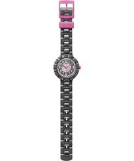 Flik Flak FCSP021 Girls Cuorantra Black Silicone Strap Watch