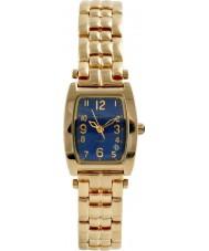 Krug-Baumen 1964KL-G Ladies Tuxedo Blue Gold Watch
