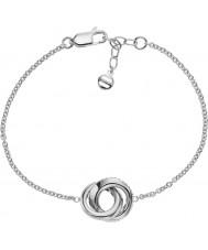 Emporio Armani EG3295040 Ladies Stelle Sterling Silver Bracelet With CZ