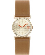 Orla Kiely OK2050 Ladies Gold Plated Tan Leather Strap Watch