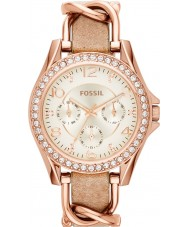 Fossil ES3466 Ladies Riley Sand Leather Strap Watch
