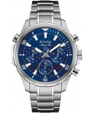 Bulova 96B256 Mens Marine Star Silver Chronograph Watch