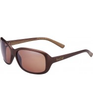 Bolle Molly Matt Chocolate Polarized Sandstone Gun Sunglasses