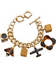 Orla Kiely B4860 Ladies Bee and Plane Charms Bracelet