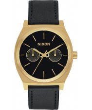 Nixon A927-1604 Time Teller Deluxe Black Leather Strap Watch Watch