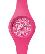Ice-Watch LO.PK.DO.S.S.16 Ladies Ice-Love Small Pink Silicone Strap Watch