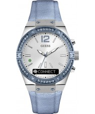 Guess Connect C0002M5 Blue Leather Strap Smart Watch